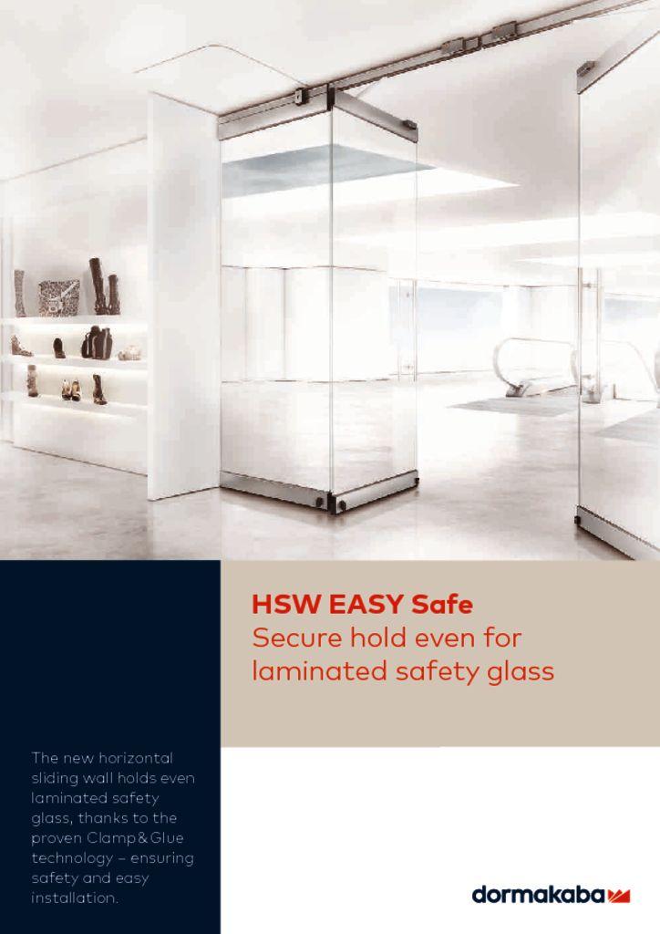 thumbnail of Dorma HSW EASY safe